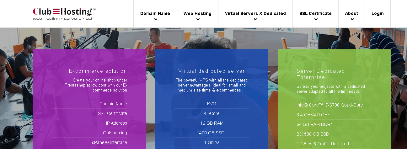 clubhosting main