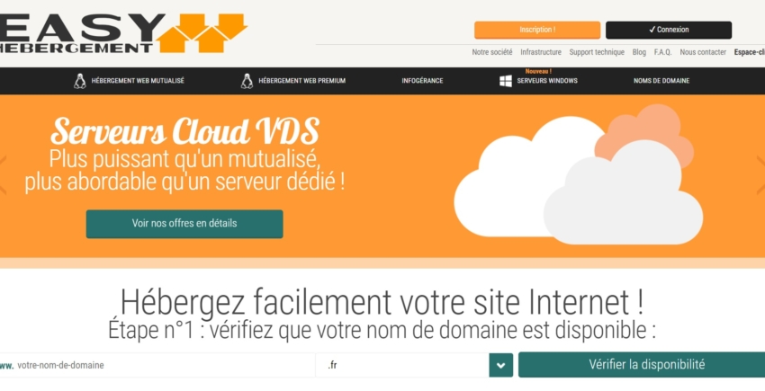 Easy-Hébergement main page