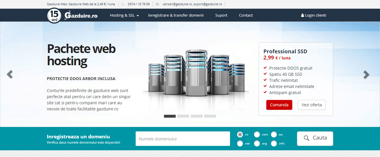 Recenzie găzduire web Găzduire.ro