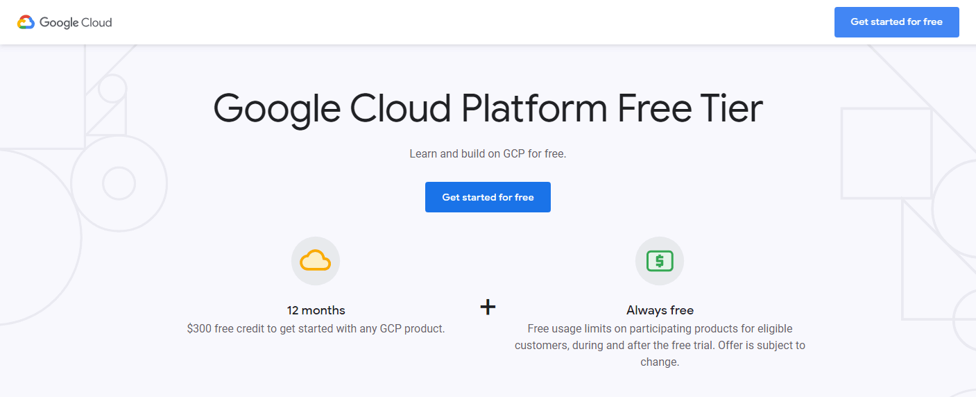 free cloud computing no credit card
