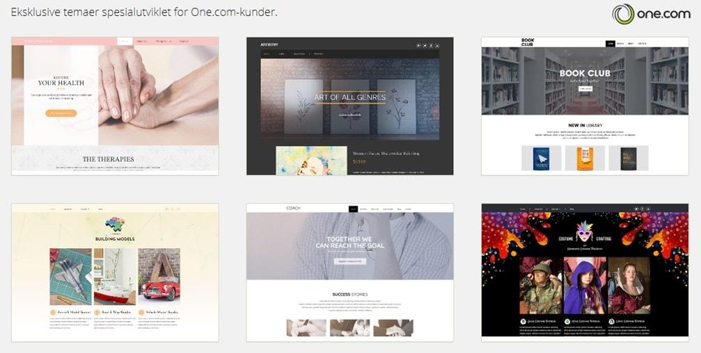 One.com tilbyr unike WordPress temaer