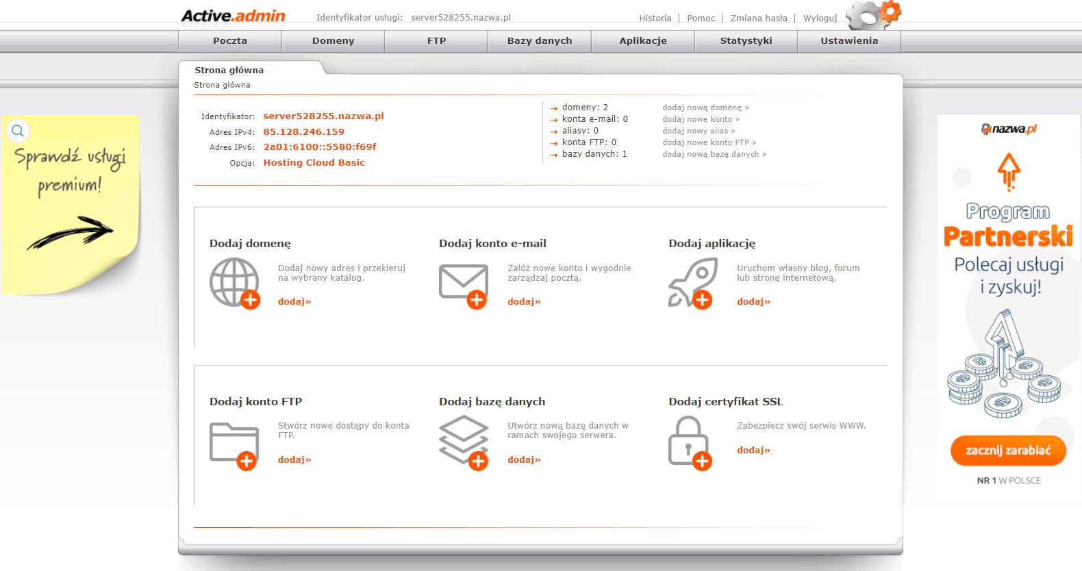 panel klienta nazwa.pl