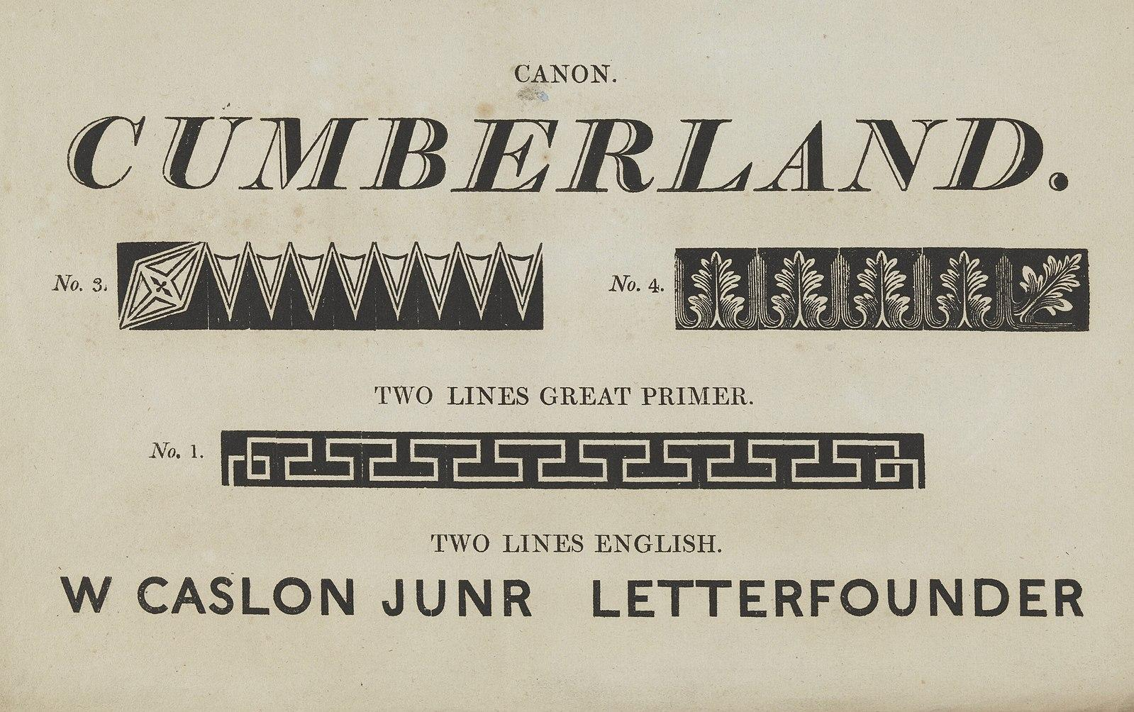 The first documented sans serif font