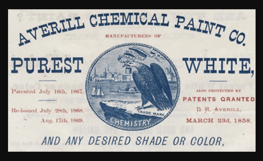 Averill Chemical Paint Co. logo, registered 1870