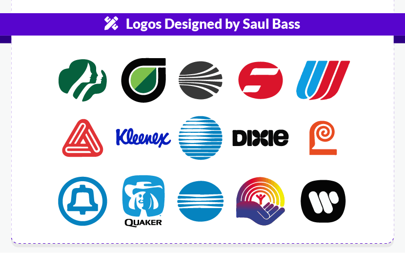 Logos designed by Saul Bass
