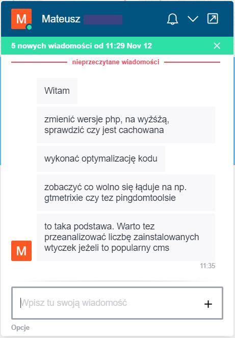 wiadomość LH.pl