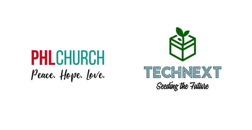 Sample business logos created with Tailor Brands - PHL Church, TechNext