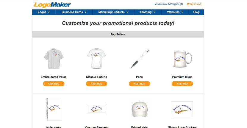 LogoMaker screenshot - Promotional Products
