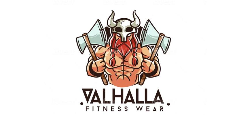 Business logo by Fiverr designer - Valhalla Fitness Wear
