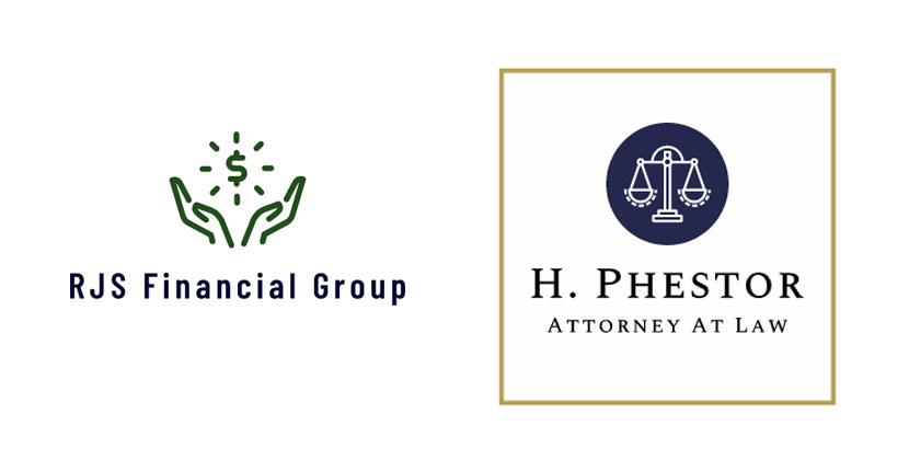 Sample business logos made with Wix Logo Maker - RJS Financial Group, H. Phestor