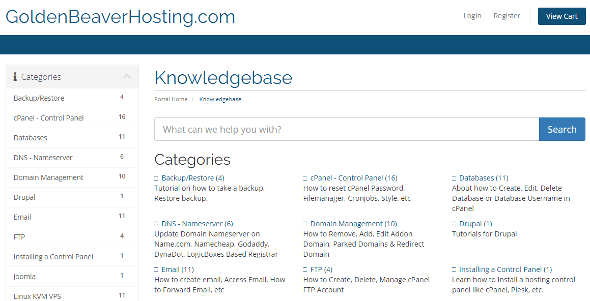 GoldenBeaverHosting Knowledgebase