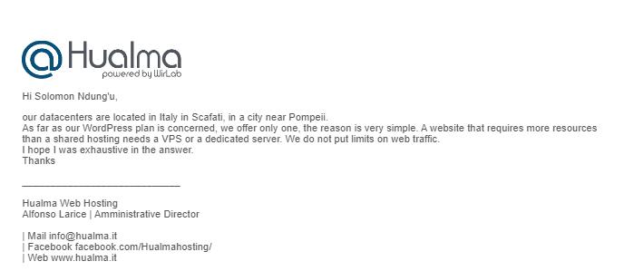 Hualma email