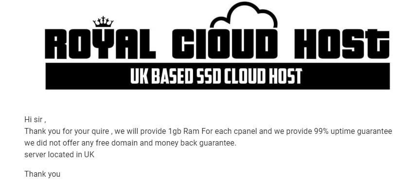 Royal Cloud Host