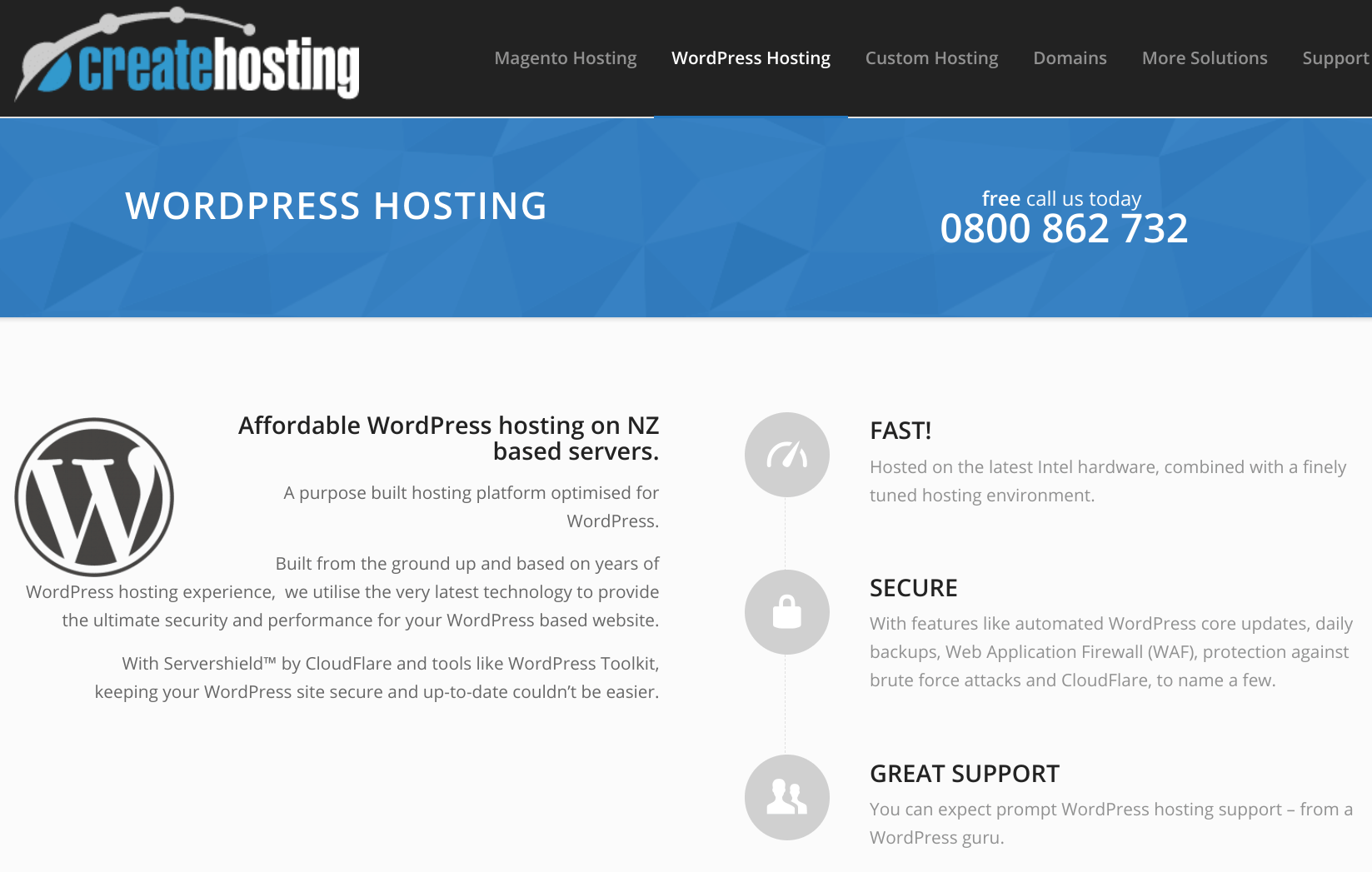 createhosting features