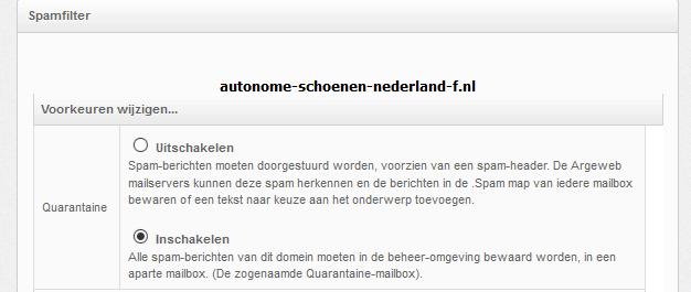 Spamfilter Hosting Argeweb