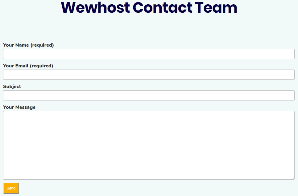 Wewhost Support