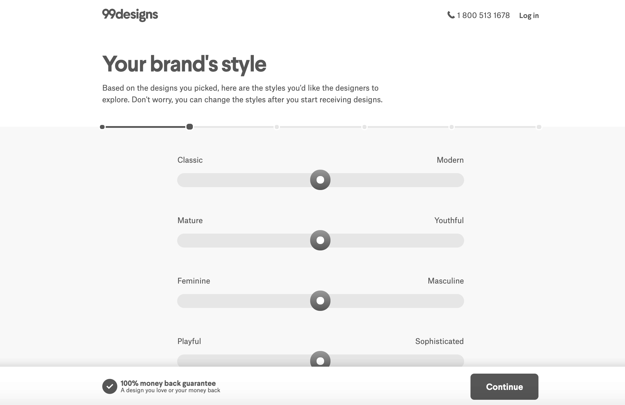99designs screenshot - Brand styles