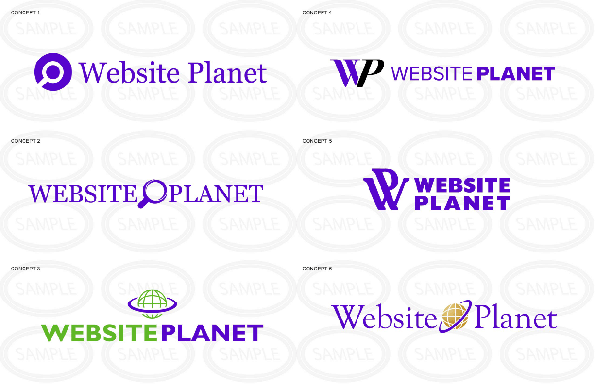 Logo concepts for Website Planet by LogoNerds