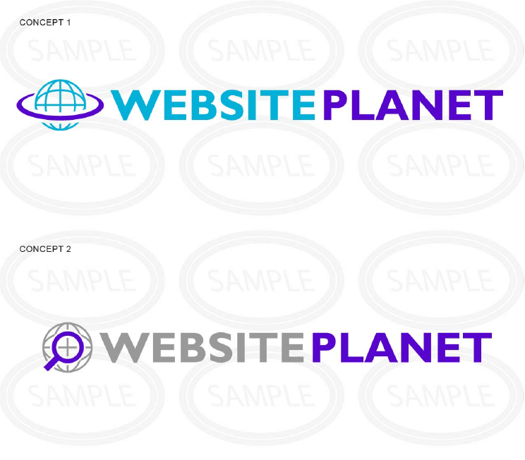 Revised logo concepts for Website Planet by LogoNerds