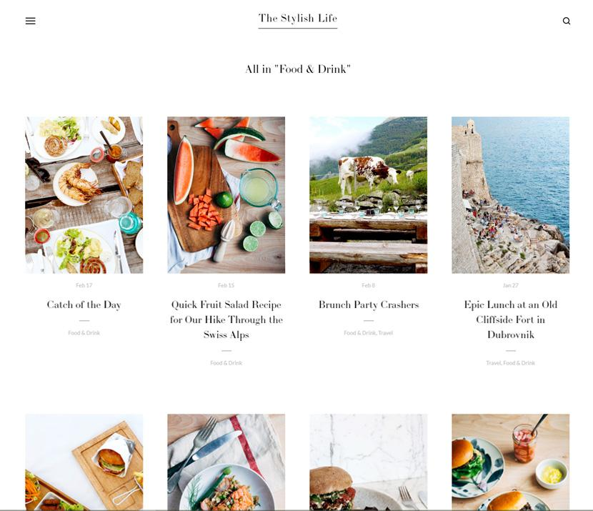 Squarespace Skye blog template