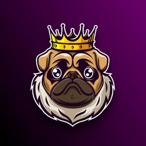 Animal logo - Dog King
