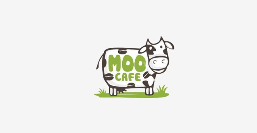 Animal logo - Moo Cafe