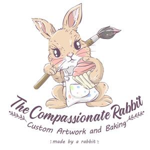 Animal logo - The Compassionate Rabbit
