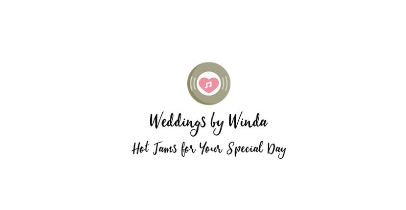 Sample DJ logo created with Tailor Brands - Weddings by Winda