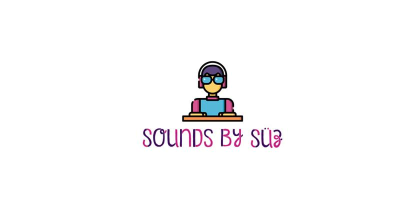 Sample DJ logo created with Tailor Brands - Sounds by Suz