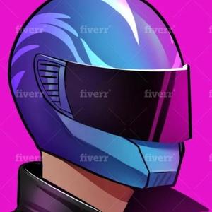 Discord logo - purple helmet