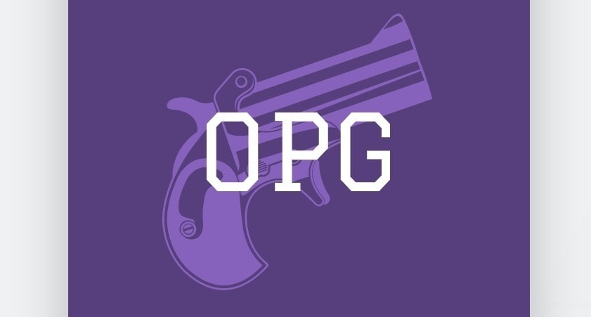 Discord logon created with Wix Logo Maker - OPG in purple
