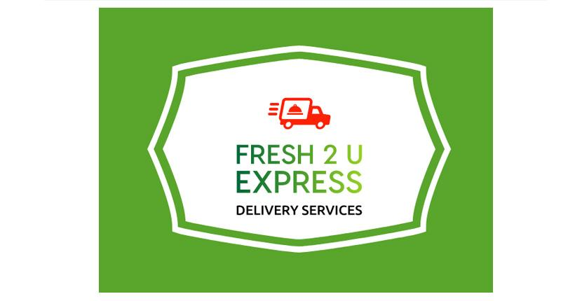 Food logo created with Looka - Fresh 2 U Express