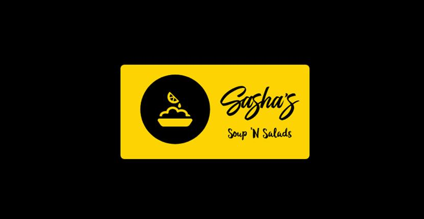 Food logo created with Looka - Sasha's Soup 'N Salads