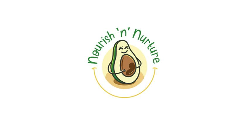 Food logo - Nourish 'n' Nurture