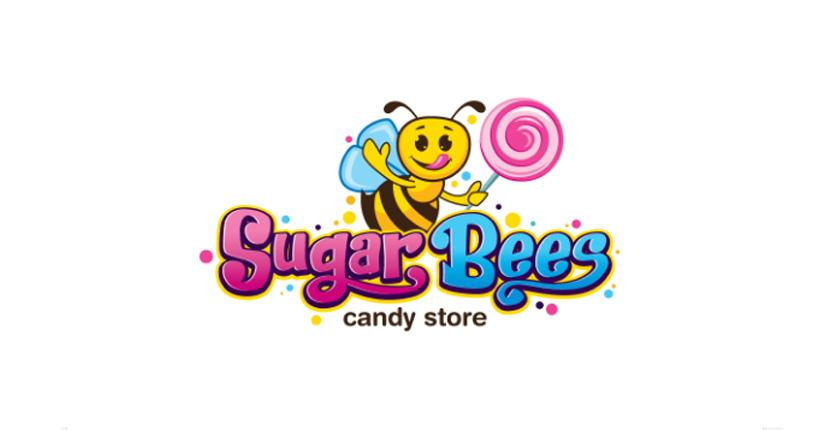Food logo - Sugar Bees Candy Store