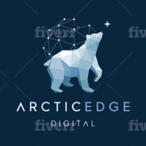 Geometric logo - ArcticEdge Digital