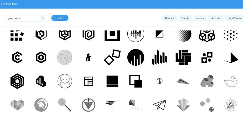 Wix Logo Maker screenshot - Icon library