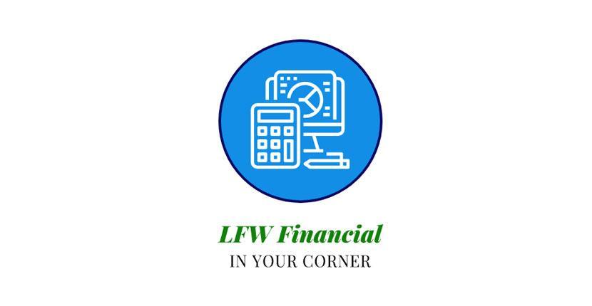 Geometric logo created with Wix Logo Maker - LFW Financial