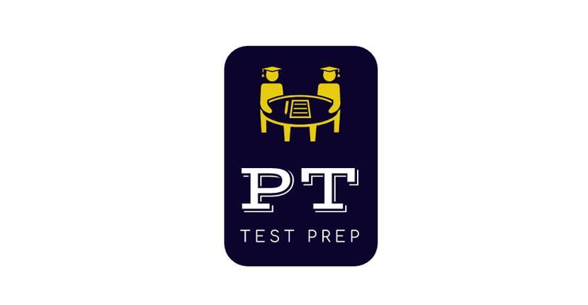Geometric logo created with Wix Logo Maker - PT Test Prep
