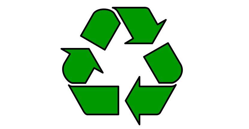 Geometric logo - Universal recycling symbol