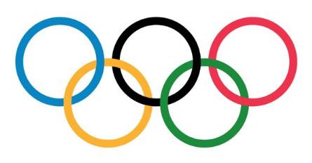 Geometric logo - Olympic Games