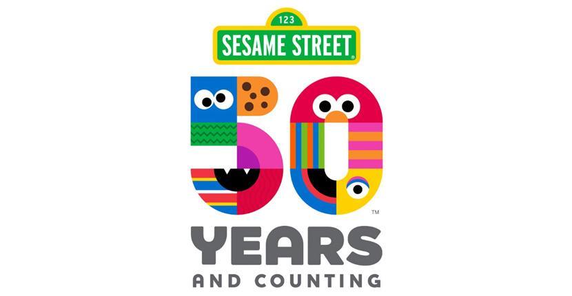 Geometric logo - Sesame Street 50 Years