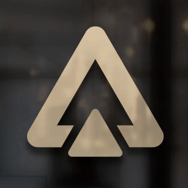 Letter logo - A with triangle