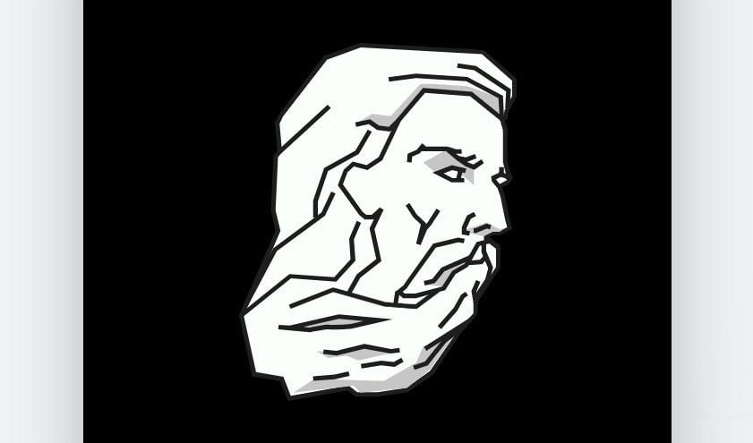 Avatar design created with Wix Logo Maker - bearded man