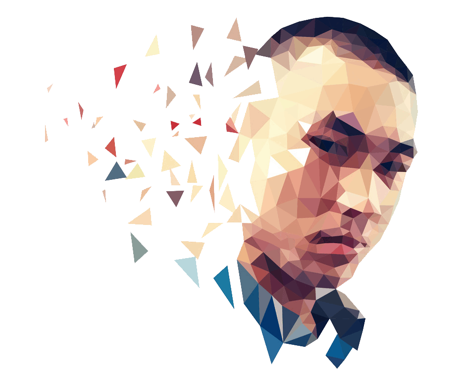 Avatar logo - polygonal