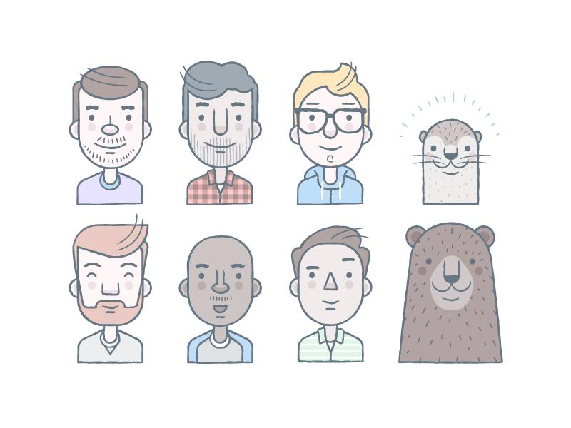 Avatar design - Dropbox avatars