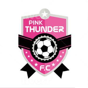 Soccer logo - Pink Thunder FC