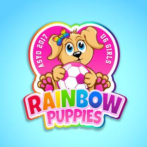 Soccer logo - Rainbow Puppies