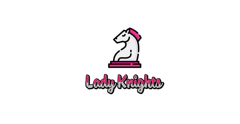 Soccer logo created with Tailor Brands - Lady Knights