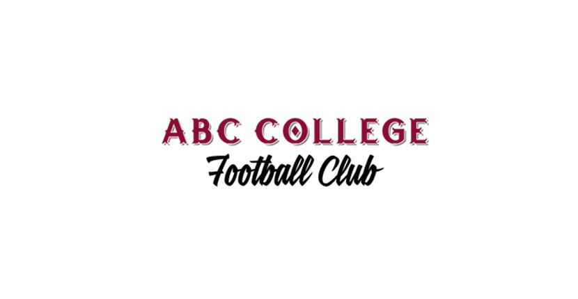 Soccer logo created with Tailor Brands - ABC College Football Club
